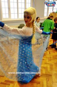 Animación para fiestas temáticas infantiles Frozen en Valladolid